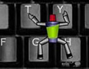 Play Héroe de acción del teclado  on Play26.COM